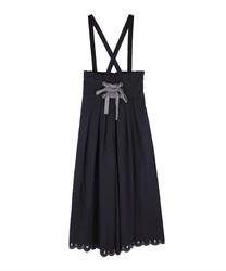 トランプ刺繍サス付パンツ(紺-M)