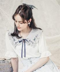 マリン刺繍セーラー襟プルオーバー【Web限定商品】