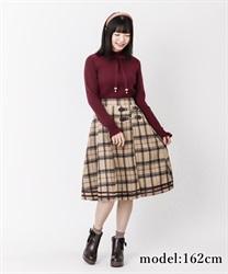 【OUTLET】シャギーチェックスカート(ベージュ-M)
