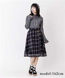 【OUTLET】シャギーチェックスカート