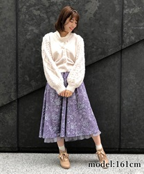 【OUTLET】【Web価格】花柄ミディスカート