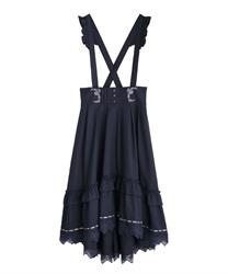 【二次予約】サス付フィッシュテールスカート(紺-M)