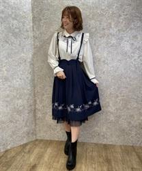 【24h限定/Web価格】コスモス刺繍サス付きスカート【Web限定商品】