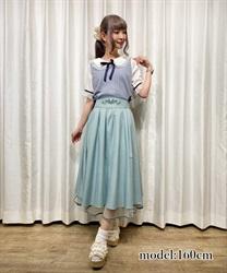 バックフリル刺繍スカート