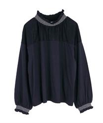 ハイネックカットプルオーバー【Web価格】(紺-M)