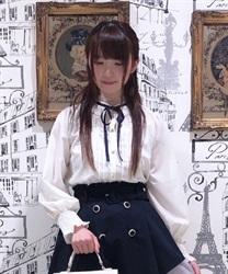 【均一価格/WEB限定】レーシープチスタンド襟ブラウス