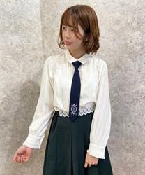 【10%OFF対象】刺繍ネクタイ付ブラウス