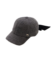 【OUTLET】【Web限定】後ろリボンボアキャップ(グレー-M)