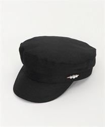 雑材風マリンキャスケット(黒-M)