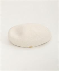 【10%OFF対象】ロゴプレート付きベレー帽(生成り-M)