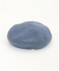 【10%OFF対象】ロゴプレート付きベレー帽(ブルー-M)