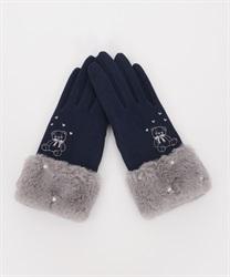 クマ刺繍手袋