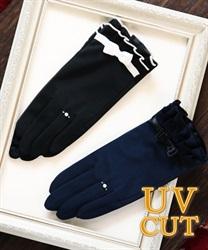 【web価格/15H限定】2段フリル抗菌UV手袋