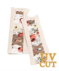【OUTLET】花柄切替UV手袋