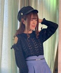 【web価格/15H限定】透かし編み肩開きニットプルオーバー