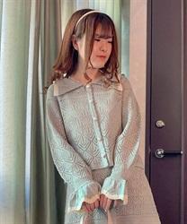 【web価格/15H限定】透かし編みカーデ風ニットプルオーバー