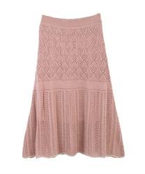 【web価格/15H限定】透かし編みニットロングスカート