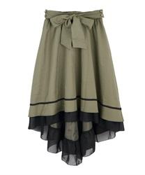 フィッシュテールスカート(カーキ-M)