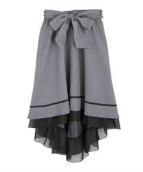 フィッシュテールスカート(グレー-M)