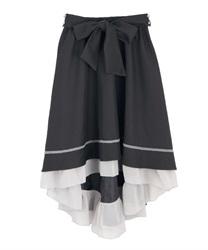 フィッシュテールスカート(黒-M)