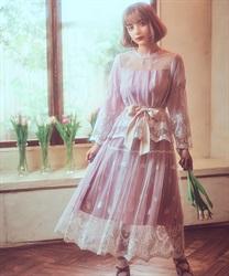 【均一価格/WEB限定】リボンブーケレーススカート