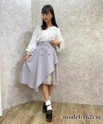 【10%OFF対象】レースアシメトレンチスカート