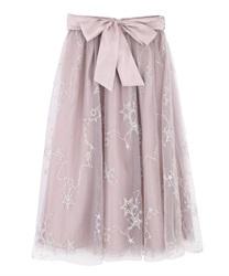 お星さまチュールスカート(淡ピンク-M)