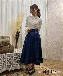 【10%OFF対象】ナポレオンモチーフロングスカート