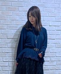 【均一価格/WEB限定】ネックレス付き裾レースプルオーバー