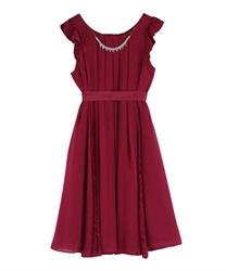 Aライン2WAYドレス(濃ピンク-M)