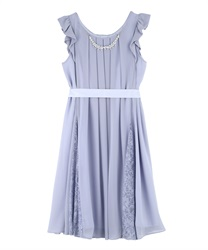Aライン2WAYドレス(サックス-M)