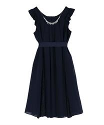 Aライン2WAYドレス(紺-M)