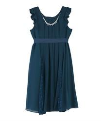 Aライン2WAYドレス(ブルーグリーン-M)
