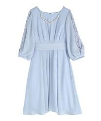 タックデザインドレス(サックス-M)