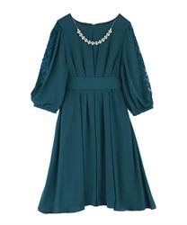 タックデザインドレス(Dグリーン-M)