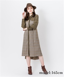 【OUTLET】ヨーク切替ワンピース