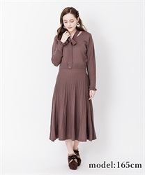 【OUTLET】【Web価格】ボータイニットワンピース