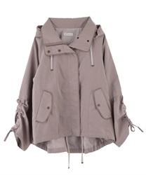 【OUTLET】【Web限定】ドロスト袖マウンテンパーカー(淡ピンク-M)