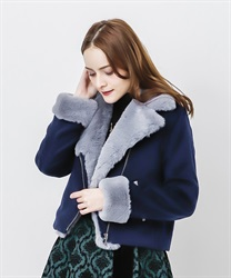 【OUTLET】ライダース風ショートコート
