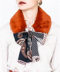 【OUTLET】スカーフ付きファーティペット