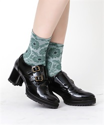 【均一価格/WEB限定】フラワー柄靴下