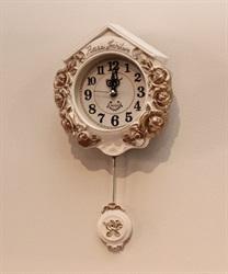ローズガーデン壁掛け時計(白-M)