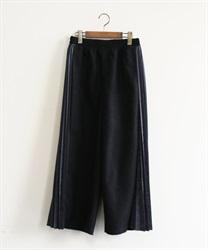 サイドプリーツ切替パンツ(黒-M)