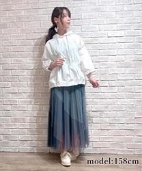 バイアス配色プリーツスカート