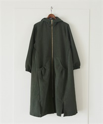【OUTLET】ジップアップフーデッドコート