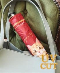猫部折り畳み晴雨兼用傘(赤-M)