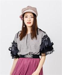 【OUTLET】ボリューム袖Tシャツ