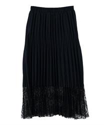 【OUTLET】ランダムプリーツスカート(紺-M)