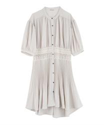 【OUTLET】ウエストレースプリーツシャツ(生成り-M)