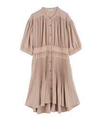 【OUTLET】ウエストレースプリーツシャツ(オレンジ-M)